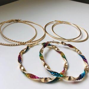 Jewelry - 3 Hola Hoops Earrings - FIRM